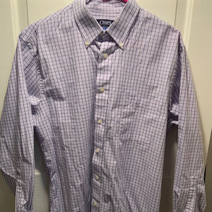 Mens Chaps Dress Shirt White w/ Purple and Black